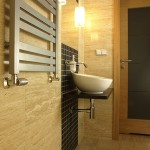 Luxury bathroom with vessel sink